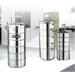 Stainless Steel Tiffins Steel Traveling Tiffin Exporter From New Delhi