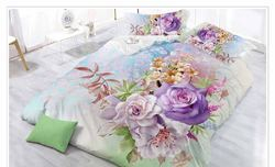 3D Flower Printed Double Bed Sheet