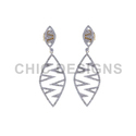 Pave Diamond Marquise Earrings