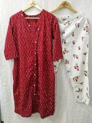 Ladies Cotton Kurtis With Pant Set