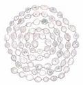 White Agate Bezel Chain