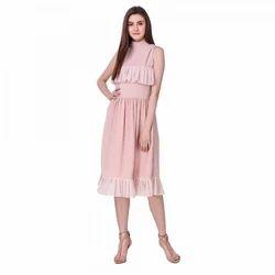 Pink Ruffle Western Dress