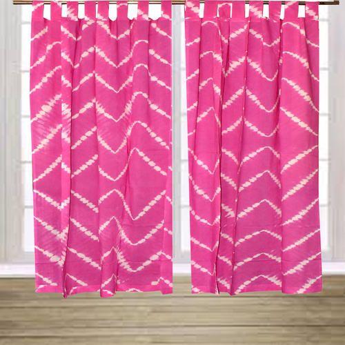 Indian Shibori Design Cotton Curtain