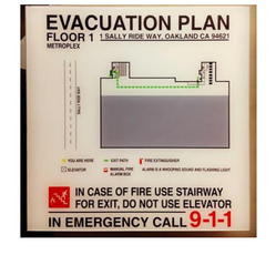 Evacuation Maps Safety Signage