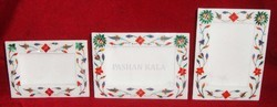 Decorative Marble Inlay Photo Frame