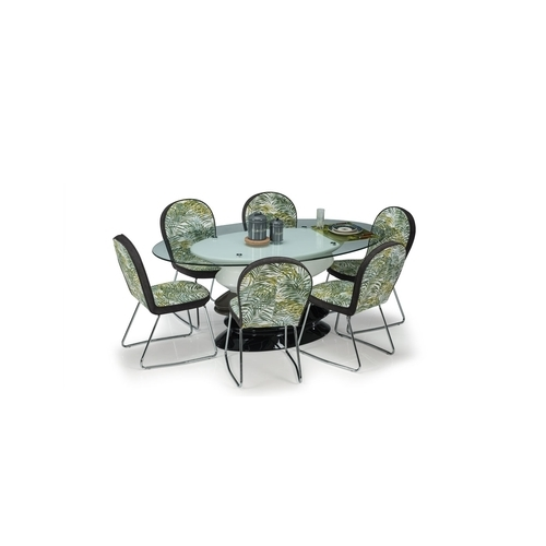 08c47a37f Durian Glass Dining Table - Durian Addison Oval Glass Dining Table ...