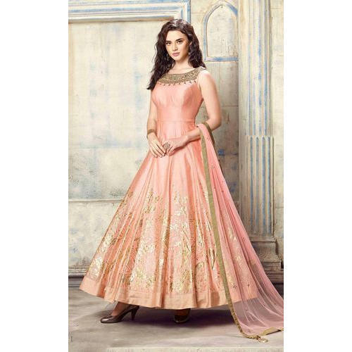 d4f49cc0d1 Ladies Gown - Ladies Bollywood Silk Gown Manufacturer from Surat