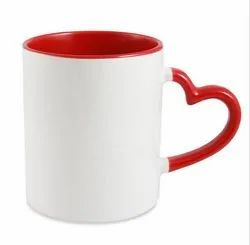 Three Tone Heart Handle Mug