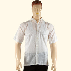 Chikan Hand Embroidered Men's Shirt