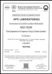 Laboratory testing for dairy product