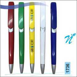 Plastic Opaque Ballpen with Satin Parts