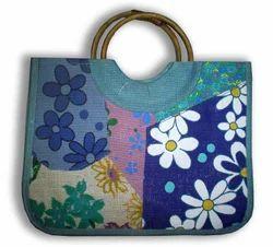 Palanquin Wooden Handle Jute Promotional Bags