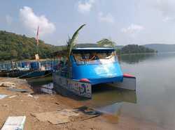 FRP Catamaran Pontoon Boat - 30 seater