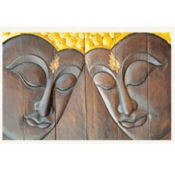 Wooden Buddha Paintings