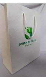 Custom Logo Printed Paper Bags In Silk Handmade Paper