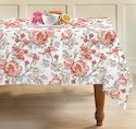 Floral Printed Cotton Table Cloth