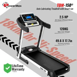 Powermax TDM-150 Auto Lubricating Treadmill with Smart Run Function