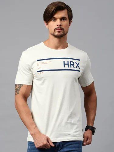 8d885f7b6d73 Hrx By Hrithik Roshan Men Off-white Printed T-shirt   Nike Blue As ...
