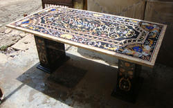 Marble Inlaid Dining Table Tops