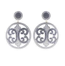 Black Spinal Gemstone Dangle Earring