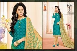 Round Neck Mallika Salwar Suit Fabric