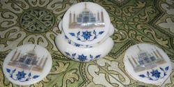 Coasters with Taj Mahal Inlay