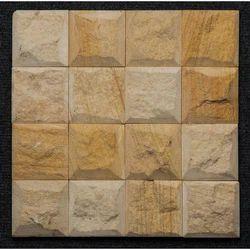 Teak Sandstone Block Pattern Wall Cladding