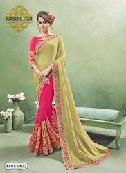 Beautiful Embroidery Saree