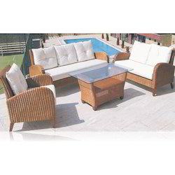 Cane Wicker Sofa