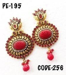Designer Polka Earrings