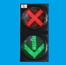 Red Cross Green Arrow Signal