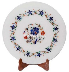 Marble Stone Plate Round Shape