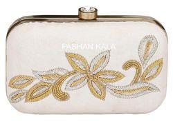 Zari Embroidery Fancy Ladies Clutch Purse