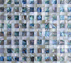 Mother of Pearl and Abalone Mosaic Tile