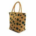 Juteberry Yellow Polka Dot Jute Bag