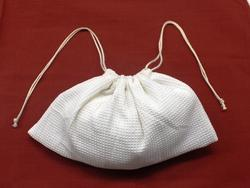 GOTS Certified Organic Cotton Drawstring Bags for Cosmetics