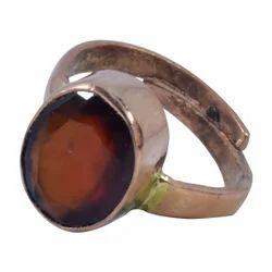 Natural Gomed (Hessonite) Gemstone Adjustable Ring