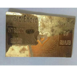 Magnetic Gold Card