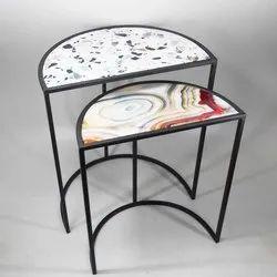Half Circle Table, Size: A- 40x23x49 Cm