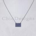 Blue Sapphire Charm Pendant Necklace