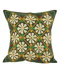 Brown Floral Patchwork Cotton Decorative Cushions Cover