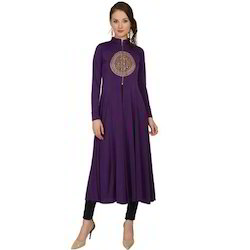 Ira-Soleil-Purple-Polyester-Knitted-Stretchable-Long-Sleeves