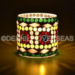 Multi Mosaic Candle Votive