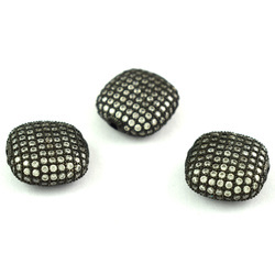 Pave CZ Stone Setting Square Beads 20mm