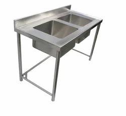 2 Sink Washing Sink Unit with Lhs Platform