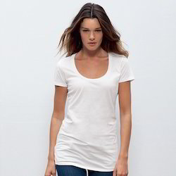 Round Neck White T-Shirts 140 GSM