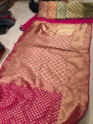 Banarasi Half-half Designer Georgette Silk Saree