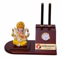 Pen Stand With Ganesh Ji Murti