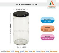 380 Ml Fern Glass Bottle Jar