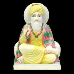 Guru Ji White Marble Statue
